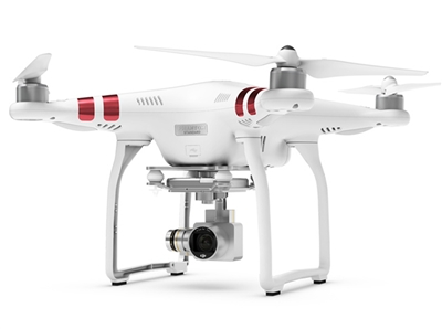 DJI Phantom 3 standard quadcopter drone with 2.7K camera with batteries and case