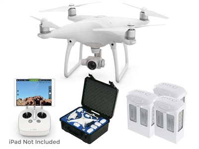 Phantom 4 Pro V2.0 with 2 Spare Batteries and GPC Case from Drones Made Easy San Diego
