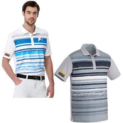 MEN'S PUMA WASHED STRIPE POLO