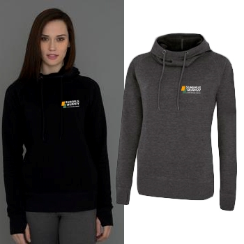 Ladies ATC Pro Fleece Funnel Neck Hooded Sweatshirt