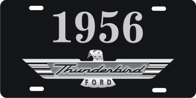 1956 ford thunderbird personalized novelty front license plate  sc 1 st  ATD design LLC store & 1956 ford thunderbird personalized novelty license plates ...