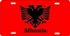 personalized license plate Albania flag
