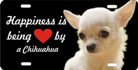 Chihuahua white personalized novelty front license plate Decorative car tag