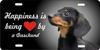 Dachshund black personalized novelty Front license plate Decorative vanity car tag