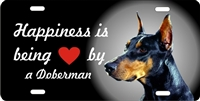 Doberman personalized novelty front license plate Decorative vanity dog car tag