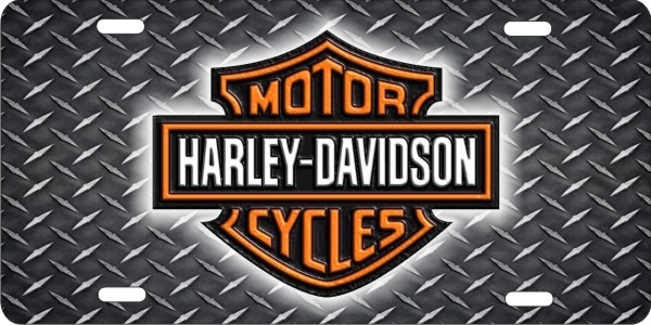 personalized novelty license plate harley davidson custom license