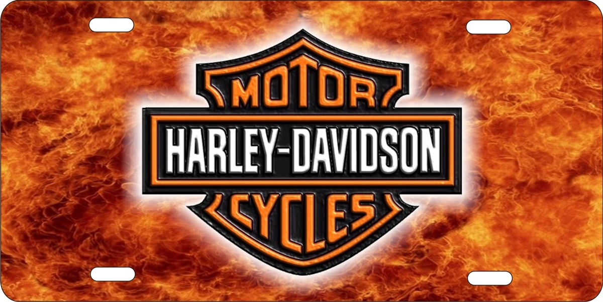 Harley davidson fire background personalized novelty license plate (NOT 3D)  sc 1 st  ATD design LLC store & personalized novelty license plate Harley davidson Custom License ...