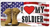 I love my soldier personalized novelty front license plate Decorative vanity car tag