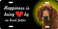 Irish Setter personalized novelty front license plate Decorative vanity dog car tag