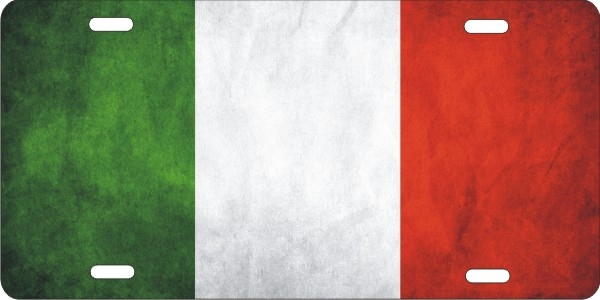 Italian Flag Personalized Novelty Front License Plate
