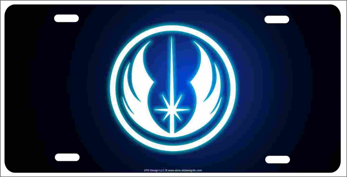 Jedi Order Personalized Novelty Front License Plate Decorative Vanity Car Tag Star Wars