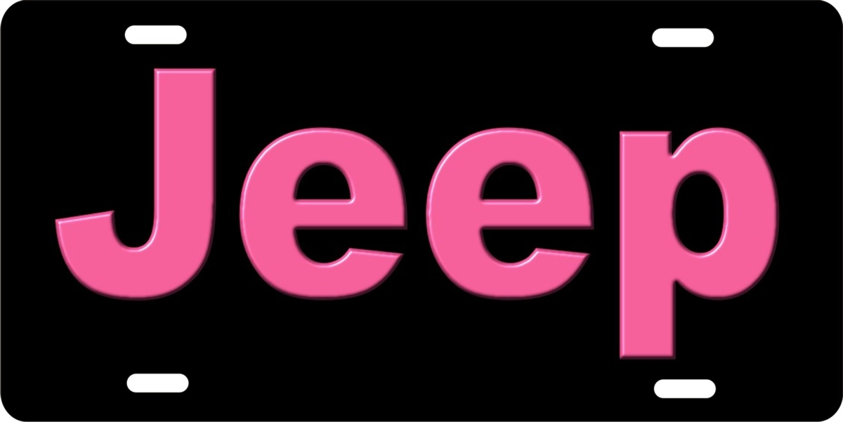 Personalized Novelty License Plate Pink Jeep Custom License Plates