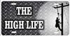 Lineman The high life personalized novelty front license plate Decorative car tag