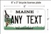 Maine state Mini License Plate for Bicycles, Bikes, Wheelchairs, Golf Carts personalized for you. can also be used as a door sign.