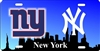 New York Giants and Yankees Decorative Novelty license Plate