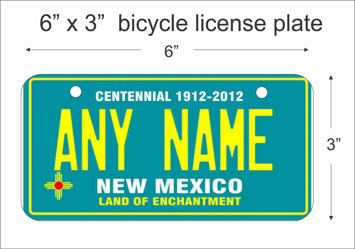 CUSTOM PERSONALIZED ALUMINUM BICYCLE MINI STATE LICENSE PLATE-CONNECTICUT