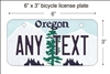 Oregon state Mini License Plate for Bicycles, Bikes, Wheelchairs, Golf Carts personalized for you. can also be used as a door sign.