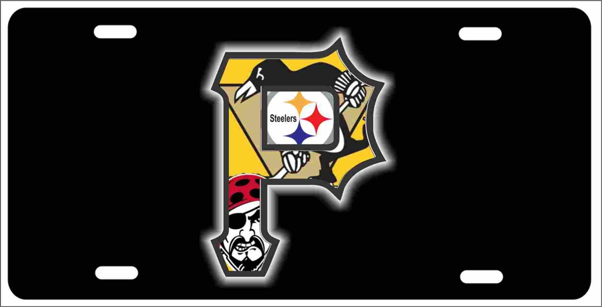 Pittsburgh P With Steelers Penguins And Pirates Logos Personalized