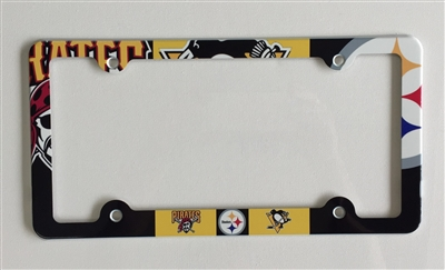 Paws License Plate Frame Paw Prints Decorative License