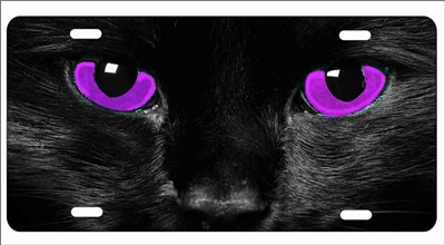 Red Cat Eyes Photo License Plate  Free Personalization on this Plate