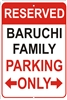 RESERVED PARKING personalized aluminum sign Novelty Custom signs, personalized signs, Decorative signs, Aluminum signs, airbrush