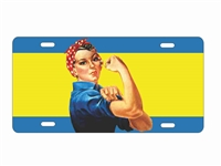 Rosie the riveter personalized license plate