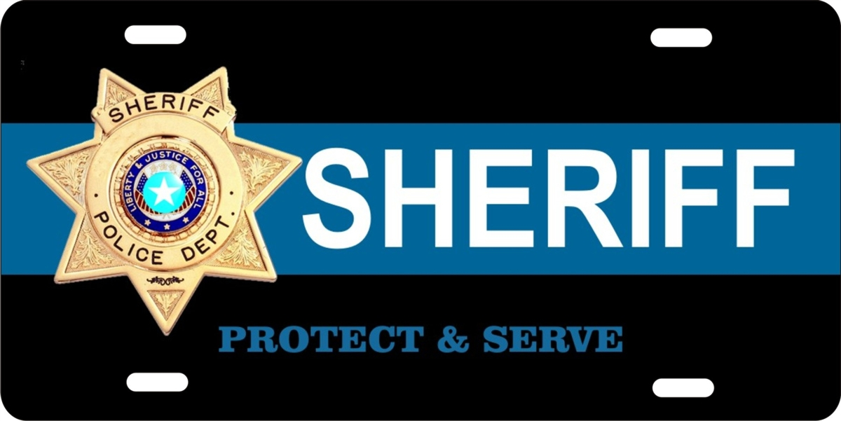 Sheriff personalized novelty license plate car tag  sc 1 st  ATD design LLC store & personalized novelty license plate Sheriff Custom License Plates ...