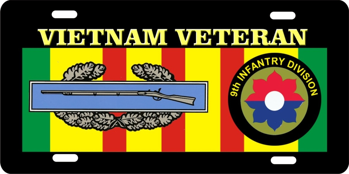 personalized novelty license plate Vietnam veteran 9th INFANTRY ...