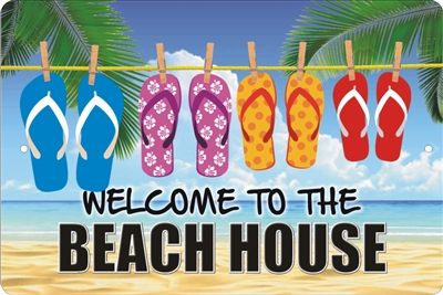 Welcome to the Beach House personalized aluminum sign