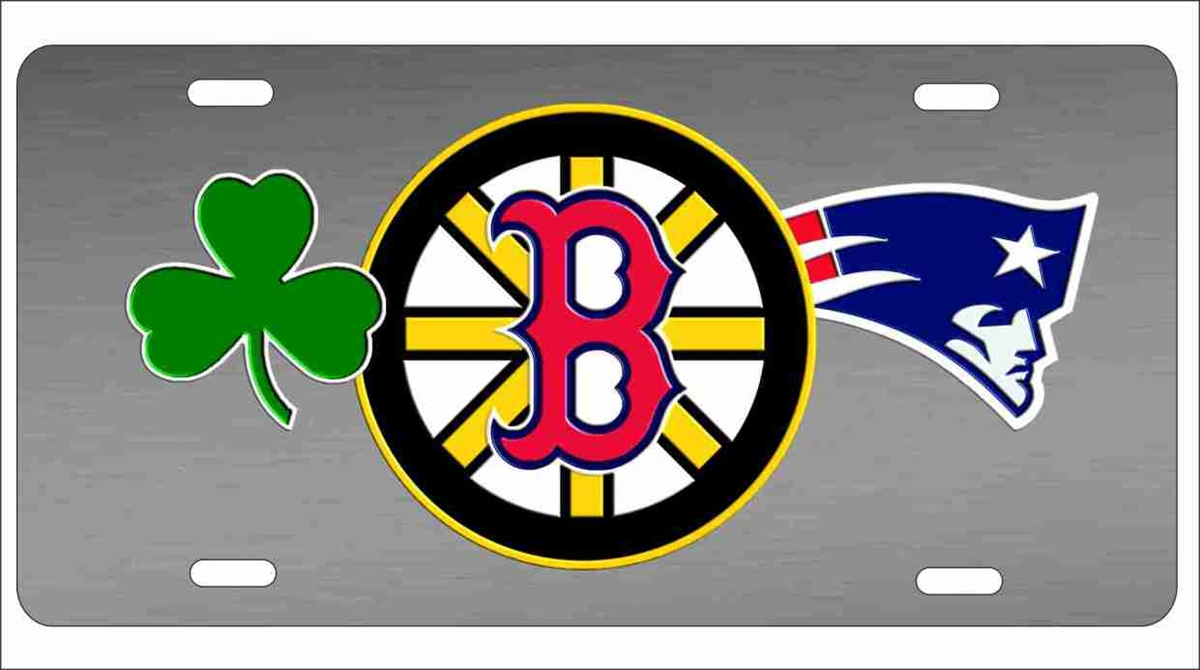 personalized novelty license plate Boston sports teams combined logo ... 4dbc692d02e7