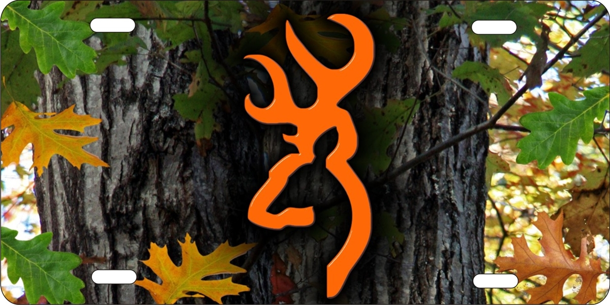 Browning buck on red oak camo background personalized novelty front ...