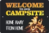 personalized campsite home away from home aluminum sign