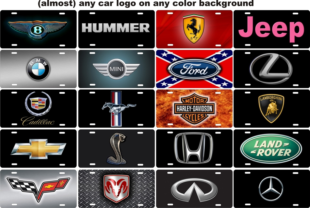 Any Car Logo Personalized Novelty License Plate Decorative Vanity Front Plate