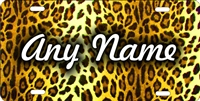 cheetah leopard print personalized novelty front license plate decorative vanity aluminum car tag