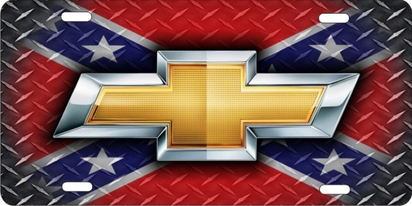 Personalized Novelty License Plate Chevrolet Bow Tie On Diamond