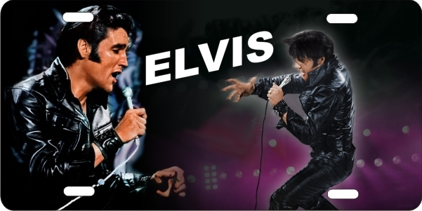 Personalized Front License Plates >> personalized novelty license plate young Elvis in leather ...