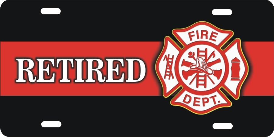 Retired firefighter Fire Dept Maltese cross (NOT 3D) Custom License ...