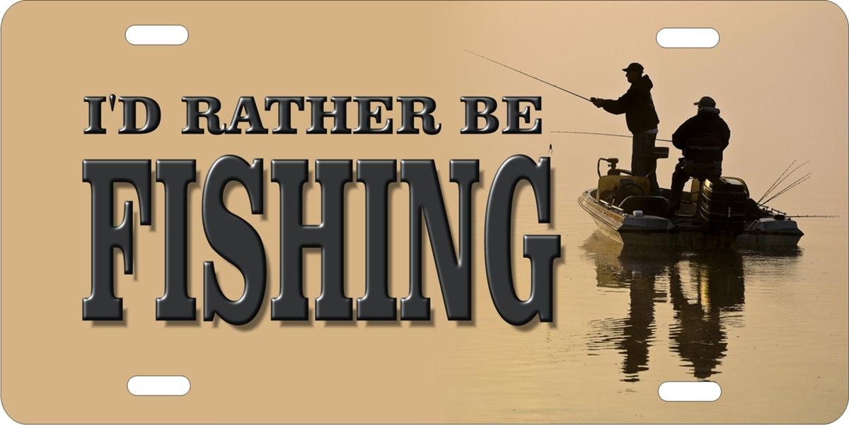 I D Rather Be Fishing Custom License Plates Personalized License Plates Decorative License