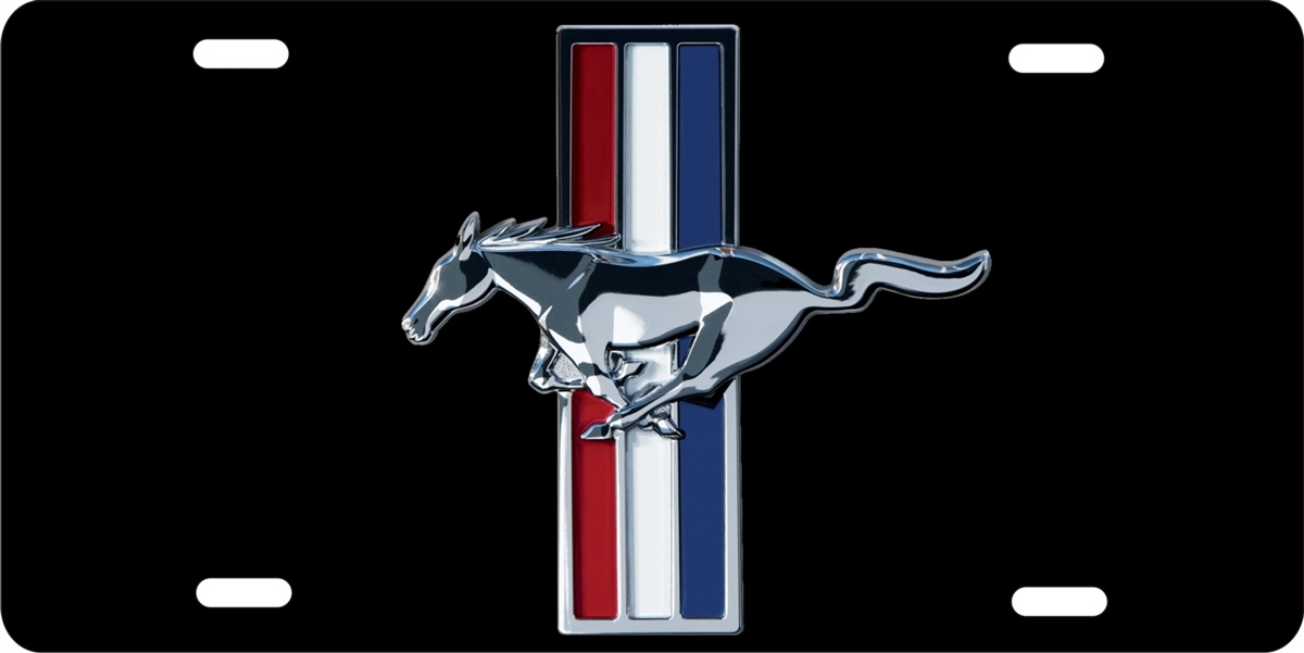 ford mustang black background personalized novelty front