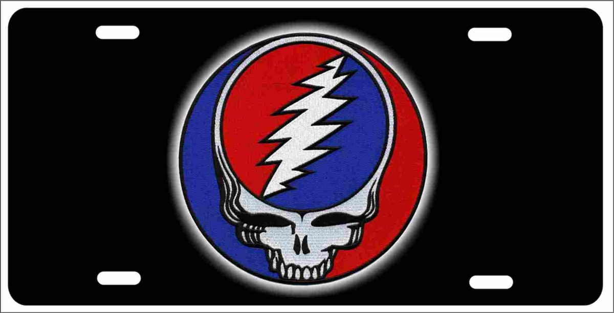 Grateful Dead Steal Your Face Novelty Front License Plate Decorative
