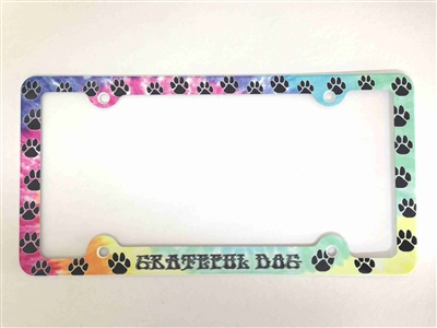 Paws License Plate Frame Paw Prints Decorative License Plate Holder