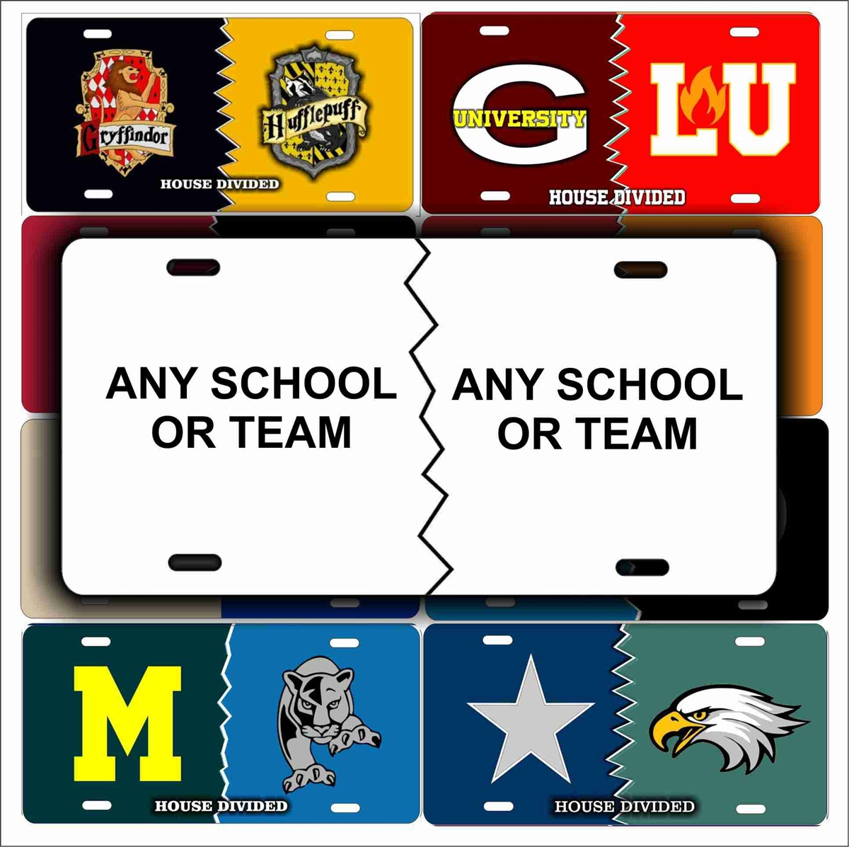 House Divided Personalized Customized novelty license plate any Sports  Teams custom House Divided signs