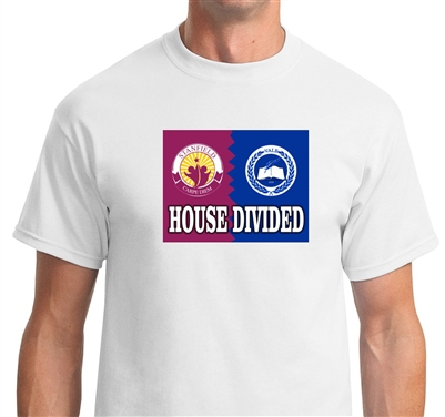 Custom House Divided T-shirts any Sport team any college any military branch