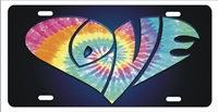 Love Tie dye inside LOVE Personalized Novelty Front License Plate Decorative Car Tag