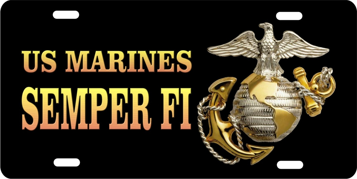 personalized novelty license plate us marines semper fi car tag