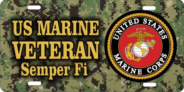 Personalized Novelty License Plate Us Marines Logo Marine