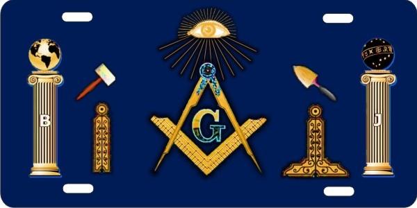 Personalized Novelty License Plate Masonic Freemason Tools