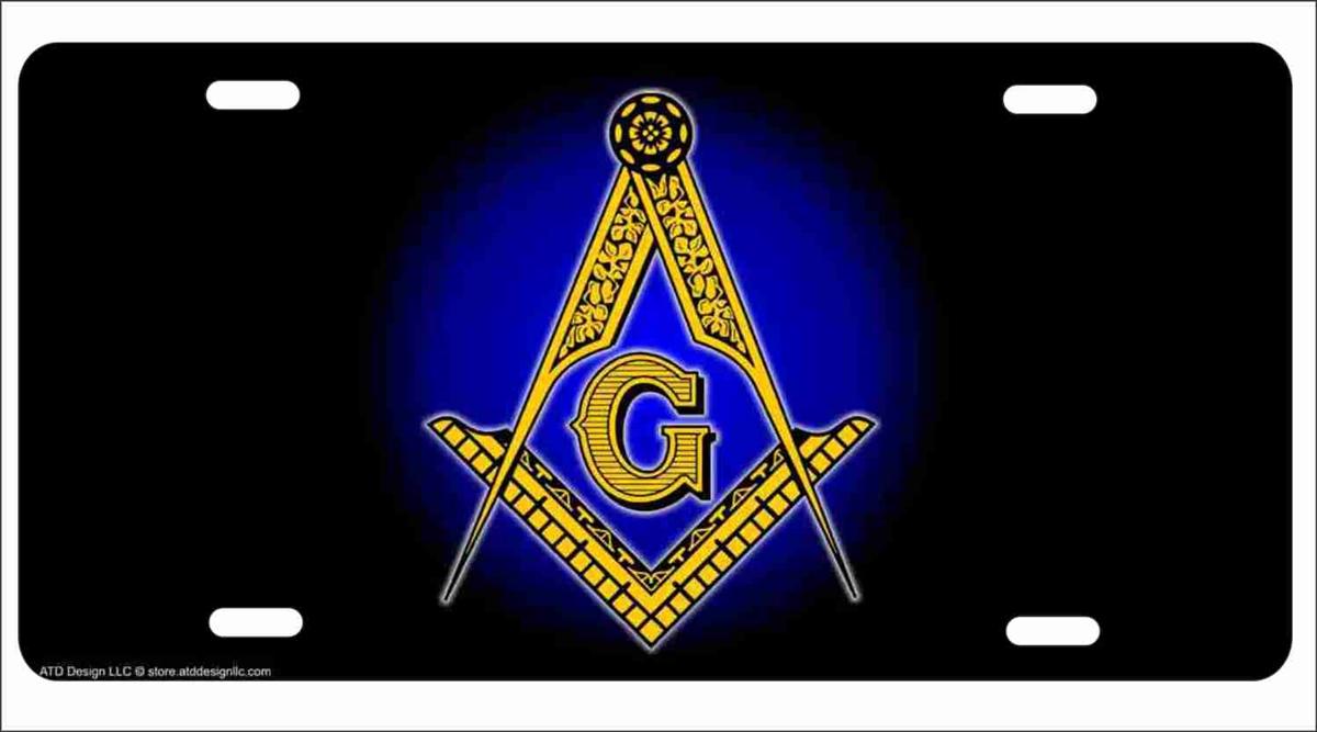Masonic Freemason symbol personalized novelty license plate decorative  vanity car tag