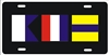 Nautical Flag Signs personalized novelty front license plate Decorative Car Tag