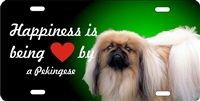 personalized novelty license plate Happiness is being loved by a pekingese Custom License Plates, Personalized License Plates, Decorative License Plates, Front License Plates, Car Tags, airbrush